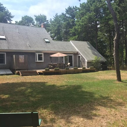 Eastham Cape Cod vacation rental - Level, grassy back yard for all kinds of games or lounging