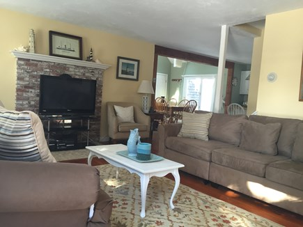 Eastham Cape Cod vacation rental - Bright living room opens to kitchen and dining room