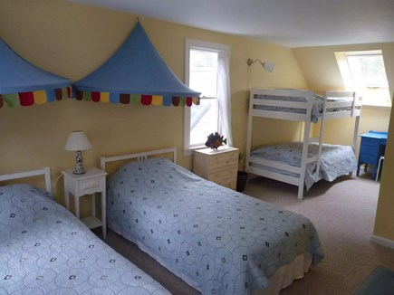 Eastham Cape Cod vacation rental - Upstairs BR w 2 twins and 2 more in a bunk bed - party time!