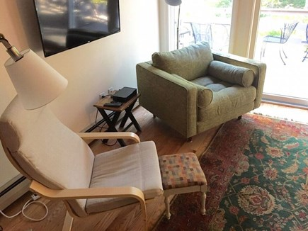 Wellfleet Cape Cod vacation rental - Relaxation station with mounted flat screen TV