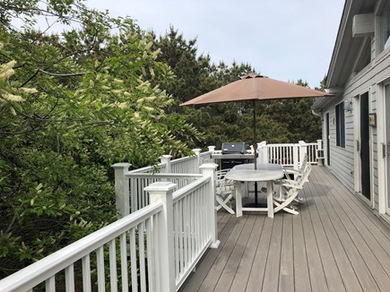 Wellfleet Cape Cod vacation rental - Eat out on the spacious deck