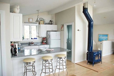 Wellfleet Cape Cod vacation rental - Kitchen looking into the living room