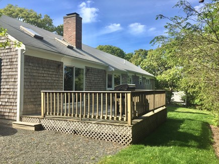 Chatham Cape Cod vacation rental - Back of Home with Deck, Yard and Outdoor Shower