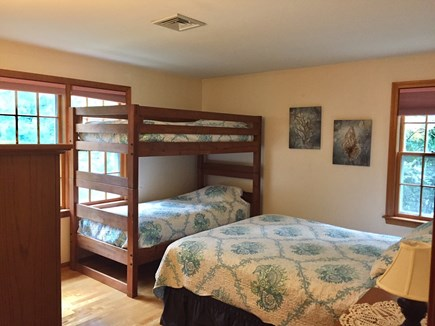 Chatham Cape Cod vacation rental - Bedroom 3 with queen and set of bunks (2 twins)