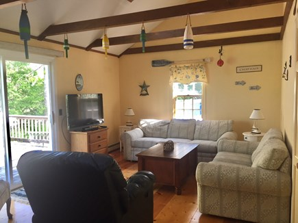 Chatham Cape Cod vacation rental - Den with Deck Access, Sleeper Sofa and Flat Screen TV