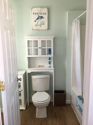 Dennis Port Cape Cod vacation rental - FULL tub in the bathroom with wonderful lighting.