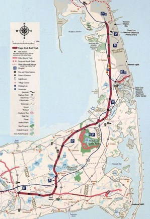 Eastham Cape Cod vacation rental - Steps to the bike trail.