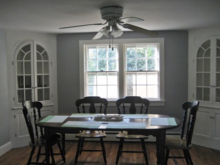 South Harwich Cape Cod vacation rental - Large Dining Area W/ 6 Chairs, Fan