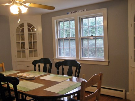 South Harwich Cape Cod vacation rental - Large dining area/ with fan