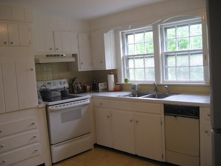 South Harwich Cape Cod vacation rental - Kitchen- Backyard View