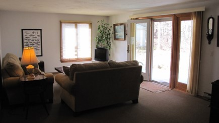 Truro Cape Cod vacation rental - Family Room Opens to yard, enclosed outdoor shower