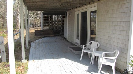 Truro Cape Cod vacation rental - Lower Deck with Swing, Enclosed Outdoor Shower