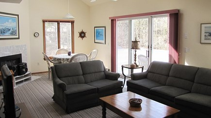 Truro Cape Cod vacation rental - Living Room Opens to Upper Deck