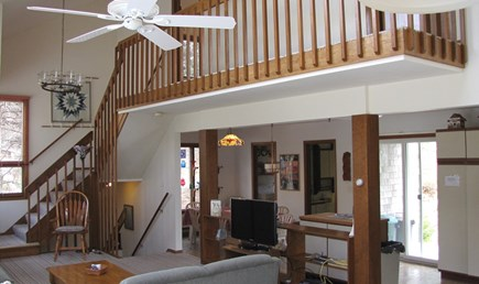 Truro Cape Cod vacation rental - Cathedral Ceiling in the Living Room