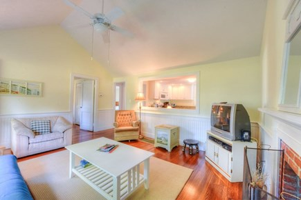 West Hyannisport Cape Cod vacation rental - Living Room with Cathedral ceilings