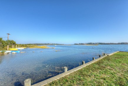 West Hyannisport Cape Cod vacation rental - sit on the grass and enjoy the coastal life