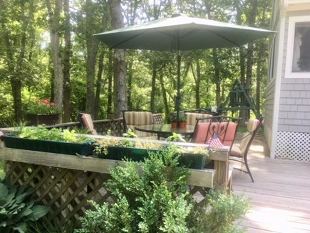 Barnstable Village Cape Cod vacation rental - Deck with attached herb garden