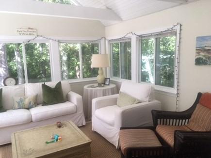 Barnstable Village Cape Cod vacation rental - Sunroom overlooking backyard