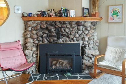 Wareham MA vacation rental - Warm fireplace