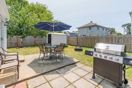 West Yarmouth Cape Cod vacation rental - Patio with gas grill and seating for 6