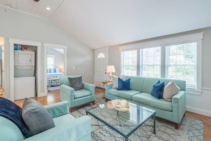 West Yarmouth Cape Cod vacation rental - Vaulted living room ceiling