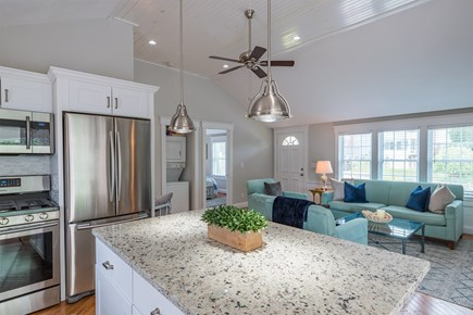 West Yarmouth Cape Cod vacation rental - Kitchen and living room