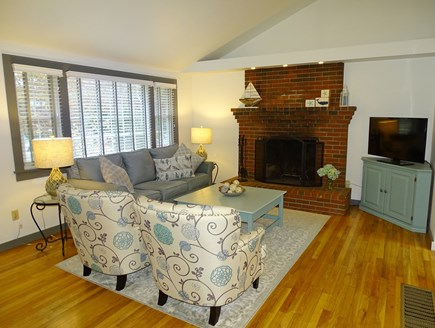Eastham Cape Cod vacation rental - Spacious vaulted living room, newly furnished