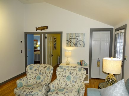 Eastham Cape Cod vacation rental - View of bedrooms from living room area