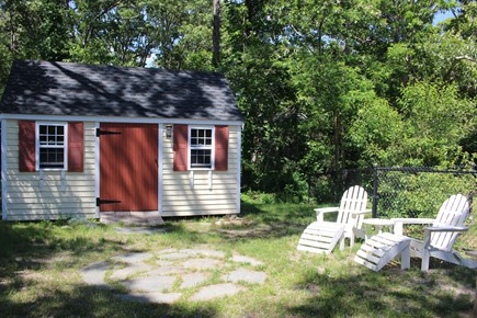 Eastham Cape Cod vacation rental - Shed for bikes and beach chairs
