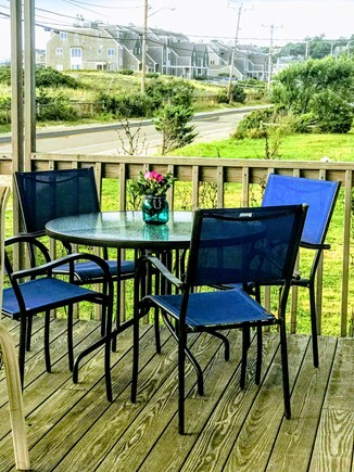 Plymouth, White Horse Beach MA vacation rental - First Floor Deck dining area