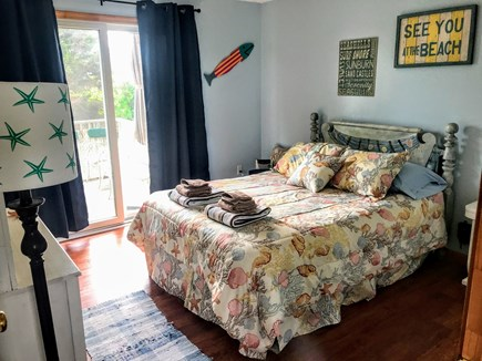 Plymouth, White Horse Beach MA vacation rental - First Floor Double Bedroom sliders to the back deck