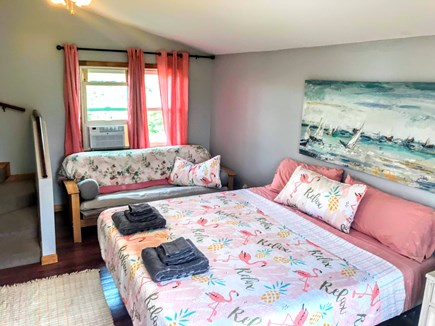 Plymouth, White Horse Beach MA vacation rental - Master Bedroom with King Bed and Double Sleeper Futon