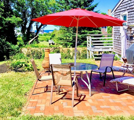 Plymouth, White Horse Beach MA vacation rental - Backyard with Oceanviews, Outdoor Grill and Outdoor Shower