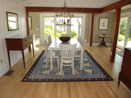 Chatham Cape Cod vacation rental - Dining Area open to the Sitting Area (with TV).