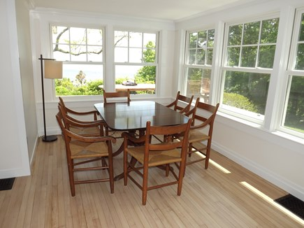 Chatham Cape Cod vacation rental - Card/Game Table in Family Room with Sunshine Galore!