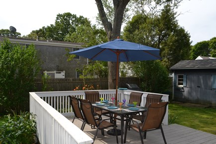 Falmouth Cape Cod vacation rental - Backyard Deck