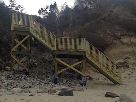 Sagamore Beach, Bourne Sagamore Beach vacation rental - Stairs from path to beach