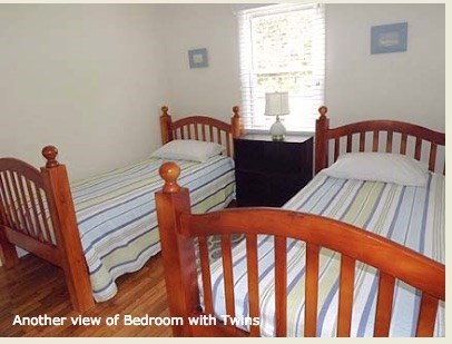 Chatham Cape Cod vacation rental - Two twin beds in third bedroom, has  hair conditioner unit.