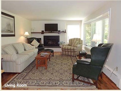 Chatham Cape Cod vacation rental - Living room with couch, chairs and TV