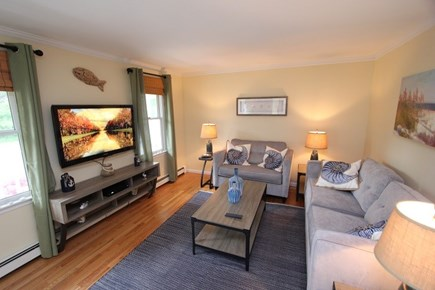 North Falmouth Cape Cod vacation rental - Living Room w/ Flat Screen TV