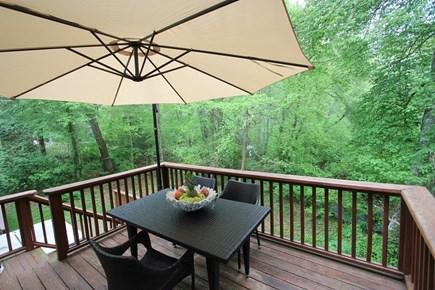 North Falmouth Cape Cod vacation rental - Back Deck Overlooking Back Yard