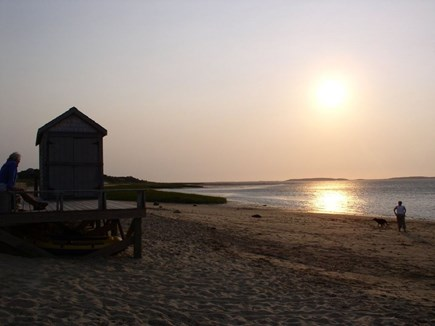 Wellfleet Cape Cod vacation rental - Walk to Boathouse Beach for sunset over Cape Cod Bay