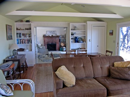 Wellfleet Cape Cod vacation rental - Dining and living room with sliders to deck and marsh views