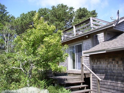 Wellfleet Cape Cod vacation rental - Upper deck attached building w/ queen bed, bathroom, and laundry