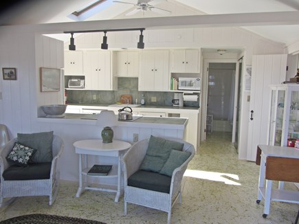 Wellfleet Cape Cod vacation rental - Kitchen and sitting area