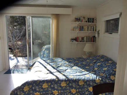 Wellfleet Cape Cod vacation rental - Queen bedroom w/bathroom and slider to deck