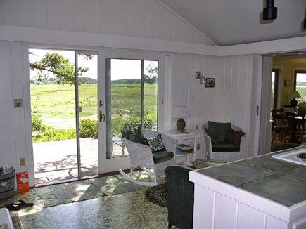 Wellfleet Cape Cod vacation rental - Marsh view kitchen and sitting area