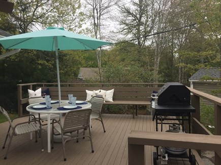 Mashpee Cape Cod vacation rental - Deck w/ Grill and Furniture