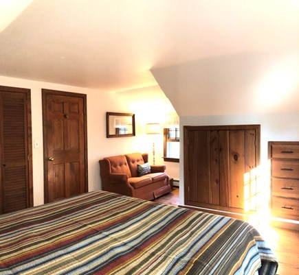 Eastham-Boat Meadow Beach area Cape Cod vacation rental - Upstairs king bedroom with reading nook.