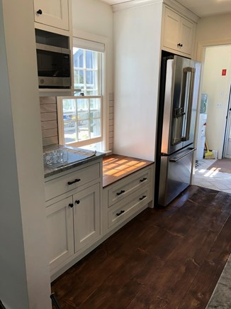 Eastham-Boat Meadow Beach area Cape Cod vacation rental - New Kitchen opens to dining area for 6 with sliders to deck.